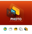 photo icon in different style vector image vector image