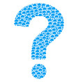 question mark mosaic of cloud icons vector image