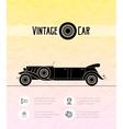 Retro limousine cabriolet car vintage outline vector image vector image