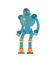 robot sad cyborg sorrowful emotions robotic man vector image