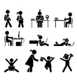 School days Pictogram icon set School children vector image vector image