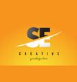 se s e letter modern logo design with yellow vector image vector image