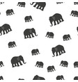 seamless pattern background with elephants vector image vector image