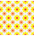 seamless pattern with a flower background vector image