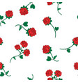 seamless wallpaper wild roses vector image vector image