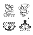 set coffee related typography quotes about vector image vector image