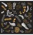 Set of vintage floral elements vector image vector image