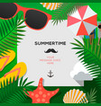 summertime holiday and summer camp poster vector image