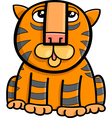 tiger animal cartoon vector image vector image