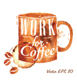 Traces Coffee office cup vector image vector image