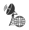 transmitting antenna tower vector image vector image