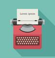 typewriter flat icon vector image vector image