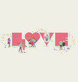 valentines day concept tine people in love vector image