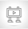 video advertising board simple line icon vector image vector image