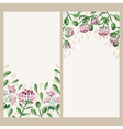 watercolor floral banner Hand draw herbal border vector image vector image