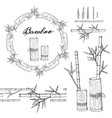 wreath and seamless brush from bamboo vector image vector image