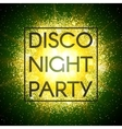 Disco night party banner vector image