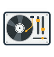 turntable flat icon music and instrument vector image