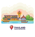 Thailand Travel Destination Concept vector image