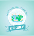 20 july international cake day vector image vector image