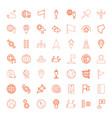 49 map icons vector image vector image