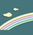 a pastel colored rainbow vector image vector image
