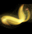 abstract golden dark background with blurry vector image vector image