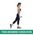 Aerobic icons Workout vector image vector image