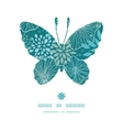 blue and gray plants butterfly silhouette pattern vector image vector image