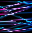 bright neon laser rays stripes abstract background vector image vector image