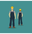 Builder front and back image vector image