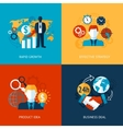 Business and management set vector image vector image