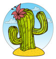 cactus logo plants of the desert vector image vector image