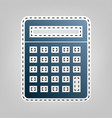 calculator simple sign blue icon with vector image vector image