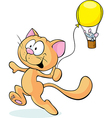 cat playing with mouse isolated on white vector image vector image