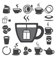 Coffee cup and Tea cup icon set eps10