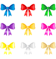 color bow vector image vector image
