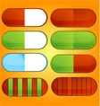 colored and shiny medic pills set vector image vector image