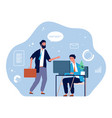 computer worker young businessman office manager vector image vector image
