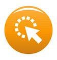 cursor pixel icon orange vector image vector image