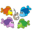 cute carp collection vector image