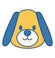 cute dog head cartoon vector image vector image