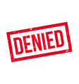 Denied rubber stamp vector image vector image