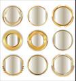 empty luxury golden badges collection vector image vector image