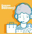 express delivery service cartoon vector image vector image