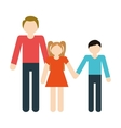 family parent son daughter hands hold vector image