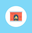 fireplace icon sign symbol vector image