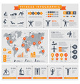 fitness infographic sport lifestyle healthy vector image