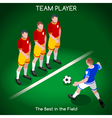 Football 02 People Isometric vector image vector image