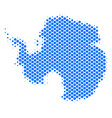 halftone abstract antarctica map vector image vector image